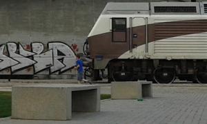 tren de la fresa y niños