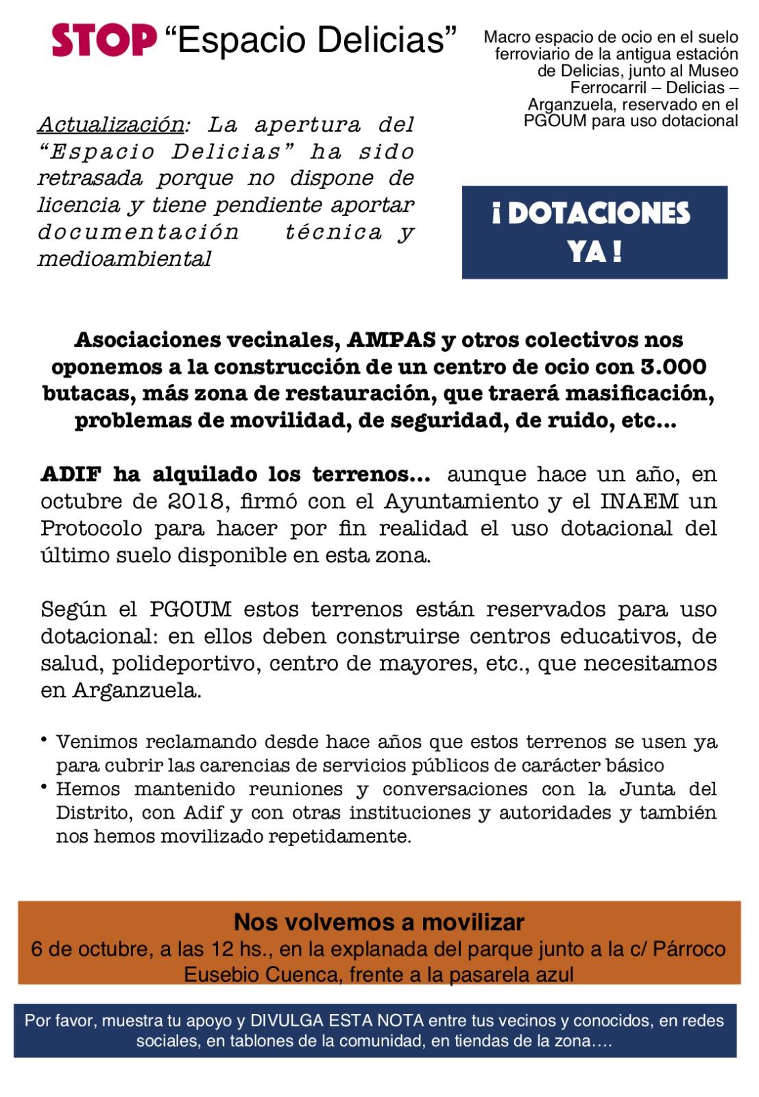 cartel delicias 2019